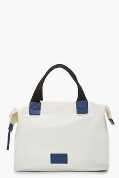 MARC BY MARC JACOBS Off-white & Navy Tote A Lot Domo Arigato Tote