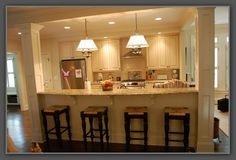 galley kitchen remodel remove wall More