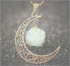 The Moonstone Pendant Necklace is made with natural stone. The Moonstone Pendant…
