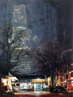 «China World Trade Center. Beijing», acrylic on canvas, palette knife, 80 x 60…