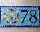 Número para Casa em mosaico Amor