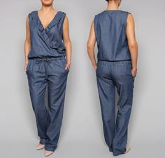 suit coverall jumpsuit overalls by Kliopa on Etsy, €60.00