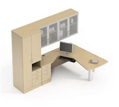 Global Total Office Zira Series Wall Desk Configuration: http://www.officeanything.com/Global-Total-Office-Zira-Series-Wall-Desk-p/gl-zira-desk-1.htm