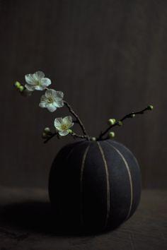 yoko komae's work with plum flower.