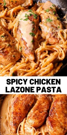 Recipes Pasta Spicy Chicken Lazone Pasta is a flavorful and easy chicken pasta dinner that comes together in only 30 minutes! Easy to make weeknight pasta dish! This dinner recipe is simple, fast and delicious! Pasta Dishes, Food Dishes, Pasta Sauces, Chicken Lazone, Night Food, Cooking Recipes, Healthy Recipes, Quick Recipes, Italian Recipes