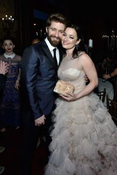 Matthew Morrison and Laura Michelle Kelly in Marchesa