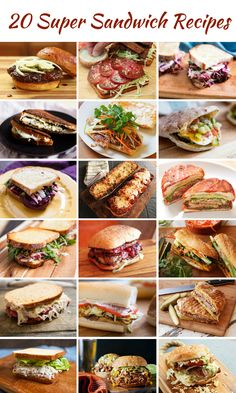 Super Sandwich Recipes to Make You Love Lunch Again Make the best sandwiches any time of the day, any day of the week.Make the best sandwiches any time of the day, any day of the week. Gourmet Sandwiches, Best Sandwich Recipes, Sandwiches For Lunch, Healthy Sandwiches, Delicious Sandwiches, Lunch Recipes, Cooking Recipes, Healthy Recipes, Panini Recipes