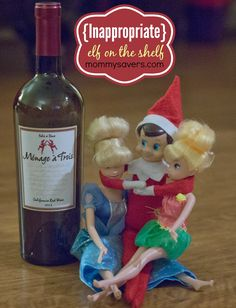 Inappropriate Elf on the Shelf Ideas It's time for another installment of NAUGHTY elf on the shelf photos. Our first Adults Only Elf Ideas was so popular we needed to showcase some new inapp…
