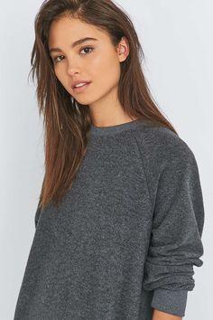BDG - Robe sweat en tissu éponge gris - Urban Outfitters