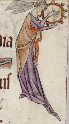 Psalter ('The Luttrell Psalter') with calendar and additional material 1325-1340 Add MS 42130 Folio 61r