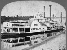 Steamboat on the Missouri River, MT 1864