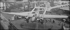 """een fokker G1 op de parijse luchtvaarshow voor de 2e WW de fransen gaven hem de bijnnaam """"kruiser"""" en """"slachter"""""""