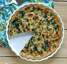 Chorizo and Spinach Quiche- This quiche is dairy free, uses no white flour, and has both healthy fats from coconut and a hefty serving of veggies from the spinach. recipe_button