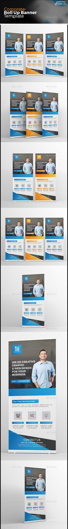 Corporate Roll-up Banner Template PSD #design Download: http://graphicriver.net/item/corporate-rollup-banner/13628648?ref=ksioks
