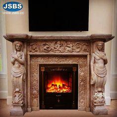 Stone Sculpture Fireplace Surround www.jsbluesea.com info@jsbluesea.com whatsapp wechat:0086-13633118189 #fireplace #stonefireplace #fireplacesurround #chateaufireplace #chateaudecor #chateaurestoration #jsbsmarble #jsbsstone #JSBS
