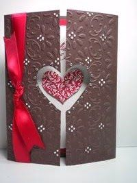 Peanuts and Peppers Papercrafting: Stampin' Up Finial Press Embossed Valentine's Card