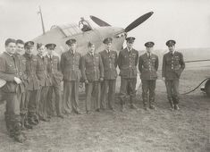 Squadron Leader E A McNab and his men, No 1 Squadron Royal Canadian Air Force and Hawker Hurricane.