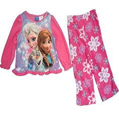 7//8 Disney Frozen Anna Elsa and Olaf Cozy Coat Pajama Set Girls