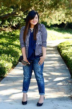 Plussize Print Jeans - Streetstyle