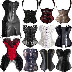 Vest/Overbust Women Lace up Bustier Corset Basque Burlesque Gothic Lingerie UK Lingerie Uk, Gothic Lingerie, Mad Hatter Halloween Costume, Steampunk Corset, Waist Training Corset, Overbust Corset, Slim Waist, Lace Up, How To Wear