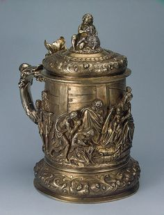 tankard with a scene of the adoration of the shepherds 1858