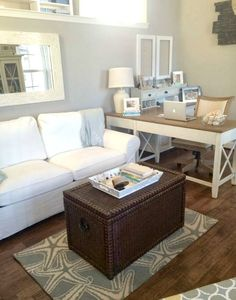 Small Home Office Guest Room Ideas Fresh Calm Cozy Office with touches Of Beach Decor. Small Home Office Guest Room Ideas Fresh Calm Cozy Office with touches Of Beach Decor. Office Playroom, Guest Room Office, Home Office Space, Home Office Design, Home Office Decor, Home Decor, Office Ideas, Office Furniture, Bedroom Office Combo