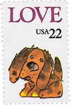 1986 22c Puppy Love Scott 2202 Mint F/VF NH  www.saratogatrading.com