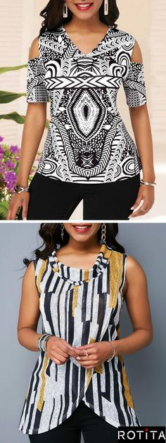 With new blouse styles added each morning,you will discover fabulous finds for you,your family,&your home. Trendy Clothes For Women, Blouses For Women, Business Outfits Women, Blouse Styles, Blouse Designs, Women's Fashion Dresses, Fashion Blouses, Casual Dresses, Women's Summer Fashion