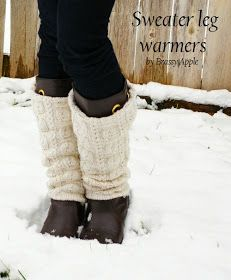 Brassy Apple: Sweater Leg warmers - tutorial