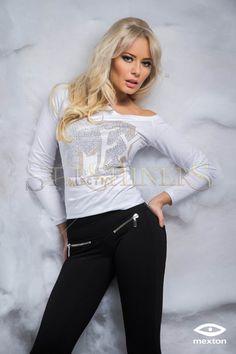 Mexton Bold Glance White Blouse