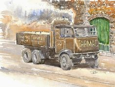 sentinel-waggon-watercolour-painting-stephen-bedser