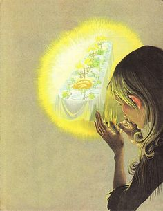 Janet & Anne Grahame Johnstone illustration from Dean's: A Book of Fairy Tales (1977)