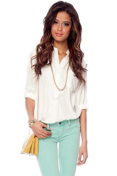Simply Buttoned Blouse