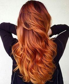 nice Великолепное рыжее мелирование на рыжие волосы (50 фото) — Как превратиться в роковую бестию