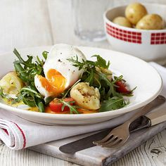 Warm salad with a poached egg recipe - From Lakeland