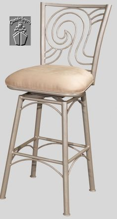 Taupe Suede 26 Inch Armless Memory Return Swivel Counter Stool