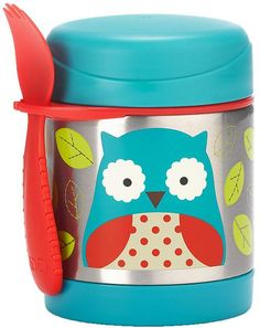 Owl Insulated Food Jar from Skip Hop - The insulated jar keeps warm foods warm and cold foods cold!