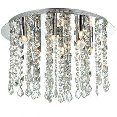 Shiraz 400 okrągły plafon ze zwisającymi kryształkami - LampyTanie - 698,11 PLN