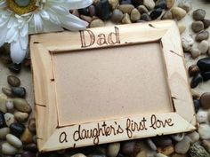 """Custom Rustic Wood Pic Frame for Dad # """"A Daughter's First Love"""" holds photo - Fathers Day - Father & Daughter Dance - New Dad baby girl - Gift World Diy Gifts For Dad, Diy Father's Day Gifts, Father's Day Diy, Daddy Gifts, Parent Gifts, Girl Gifts, Grandpa Gifts, Homemade Gifts, Daddy Daughter Dance"""
