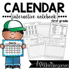 Having a calendar routine set up in your first grade classroom will help your students master important math concepts while having fun! My interactive calendar notebook includes printables loaded with tons of ideas and activities to help you save time! Learn fun songs and have a great time during your calendar block!