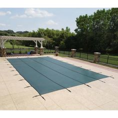 Blue Wave Green Rectangular In-ground Pool Safety Cover