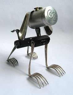 Boots - Robot Assemblage Sculpture by Brian Marshall | Flickr