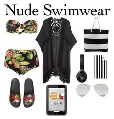 Untitled #38 by shey-mabry on Polyvore featuring polyvore moda style Isolda Gucci Sunny Rebel Beats by Dr. Dre Pottery Barn fashion clothing