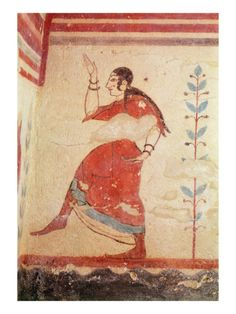Tomb of the Acrobats, Detail of a Dancer Giclee Print by Etruscan at Art.co.uk