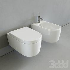 Унитаз и Биде - Toilet and bidet Smile by Cielo Toilet, Bathroom, Flush Toilet, Washroom, Full Bath, Toilets, Bath, Bathrooms, Toilet Room