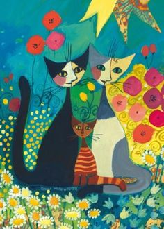 FLOWERBED No. of pieces: 1000 Size: 50 x 70 cm Artist: Rosina Wachtmeister