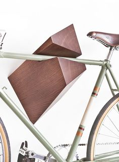 WOODSTICK wood handlebar: Get your ride the hanger by Woodstick – the design that is the only one of its kind! Bicycle Hanger, Car Bike Rack, Bicycle Decor, Bicycle Design, Cycle Storage, Bike Storage, Wall Storage, Wall Mount Bike Rack, Bike Shelf