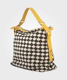 Messenger Bag Waves Black/Grey