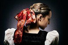 Ženský kroj, Dobrá Niva, photo Julián Veverica Dark Eyes, Kultura, Dreadlocks, Folklore, Hair Styles, Womens Fashion, People, Oriental, Porn