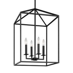 Sea Gull Perryton 4 Light Blacksmith Hall Foyer Fixture | Overstock.com Shopping - The Best Deals on Chandeliers & Pendants